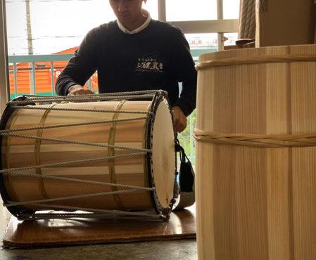 担ぎ桶太鼓の「音」の作り方♬