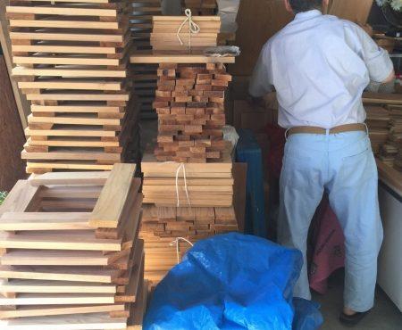 いよいよ秋田で買い付けた原木の製材がはじまりました!!