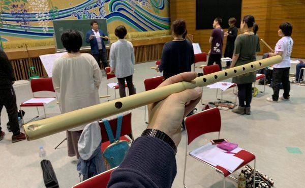 佐藤ぶんたさんによる笛教室♬