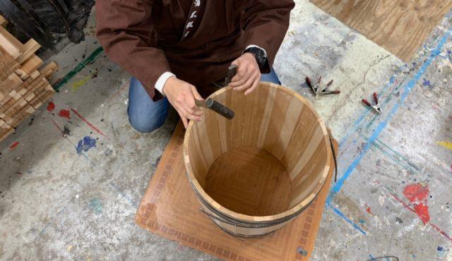 桜祭りWS『自作桶作ります』